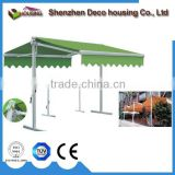Fashionable Aluminum Two Side Retractable Awning/Swimming Pool Awning With Tubular Motor