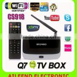 Quad core rk3188 XBMC Android 4.4 wifi bluetooth CS918 TV BOX full hd 1080p porn sex video android tv box 4.2.2
