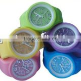 Fashional silicone durable round shape waterproof jelly watch round