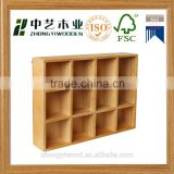 Trade assurance FSC wood shelf antique wooden shelf for shop