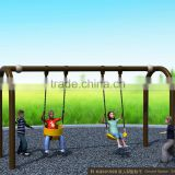 Kaiqi Sportsplay Modern Metal rubber coated Swing Set with powder coated hot Galvanized Steel Pipe