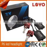 P6 Factory High Quality 12V 24V For Car Truck All in one Head Lamp H7 high Lumen Led Automotive Led Headlight H4 Bulb