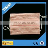 3ply pink background with white heart spunlace disposable non-woven mouth to mouth face mask