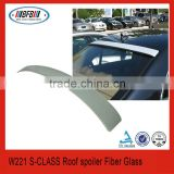 FIT FOR MERCEDES S CLASS W221 AMG LORINSER STYLE ROOF WINDOW SPOILER ABS PLASTIC