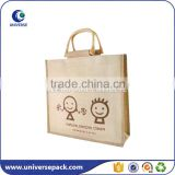 Fancy Eco-friendly Natural bamboo handles jute shopping bag                                                                                                         Supplier's Choice