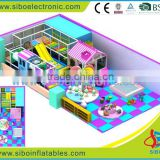 GM-SIBO giant indoor play structure including pvc slide, rope and ball pool