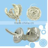 10mm big silver flower shaped brass beads end caps
