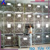 warehouse storage cage wire mesh heavy duty cage adjustable stackable container factory supplier