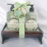 Bath gift set(body lotion,shower gel, bath salt, body scrub)