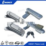 AB301 gray metal button inudstry sliding door cabinet plane locks for electrical panels vcb