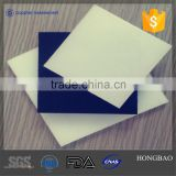 Heat resistant high density polymer sheets of plastic