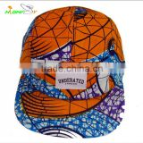 Good quality fashion brand floral pattern custom designed 5 panel camp sports cap and hat