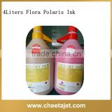 4L rich color glossy flora solvent ink for spectra polaris 512 15pl head solvent printer