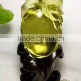 Wholesale lifelike natural citrine rock quartz crystal carving mouse animal for gift&artwork