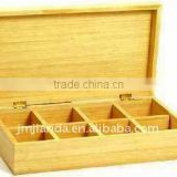 Bamboo tea bag storage boxes with lid