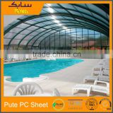 polycarbonate shade sun shed foshan polycarbonate sheet swimming pool construction materials