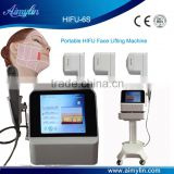 Hifu Face Lifting Machine With CE/High Intensity Eye Lines Removal Focused Ultrasound Hifu For Instant Face Lifting Nasolabial Folds Removal