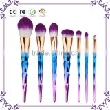 7 pieces gradient colorful color makeup brushes synthetic make-up brush for face painting