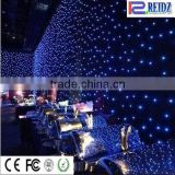 Rich design and creative rgb Velvet material IP44 indoor led star decoration cloth for wedding