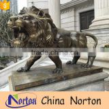 modern style handmade brass lion figurine for home decor NTBA-L096X