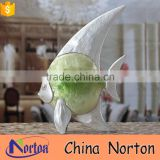 small figure resin and shell fish chrismas decoration NTRS-AD039X