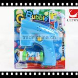 HOT sale flashing eco-freindly solid color bubble gun with music and 1 bottle bubble water