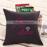 Mother of the Bride Design for Rhinestone Decorative Pillow