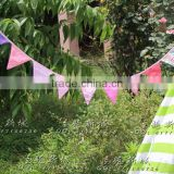 2017 Alibaba Wholesale banner fabric bunting kid's birthday party decoration supplies garland home decoration flags