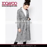 China factory wholesale costume women coat new arrival elegant slim belted trench overcoat for ladies