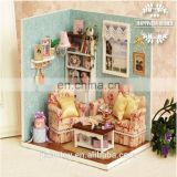 DIY girl toy House Cute Doll House With Light And Simulation Furniture With Doll