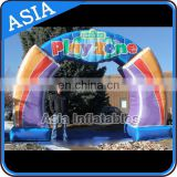 Digital Printing Arch Entrance , Play Zone Inflatable Arch Entrance Gate For Park