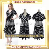 5014# 50s Rockabilly Petticoat Polka Dot Women Causal Summer Dresses Vintage Swing Retro Party Maternity Dress Plus Size