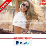 2017 latest design women crop top manufacturer