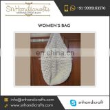 Simple and Attractive Cotton Crocheted Market and Beach Bag Available for Bulk Purchase