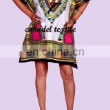 Women African Tradition Dashiki Print Sun Dress Kaftan Maxi BEACH DASHIKI DRESS AFRICAN BLOUSE MAXI CAFTAN VINTAGE BOHO PRINT