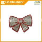 Cheap Butterfly Bow Tie Sequins Bead Applique Patch for Clothing Accessories , Flower Sequin Badge