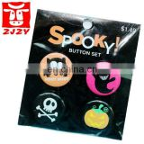 Custom plastic pins round badge (ZY11-5051)