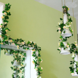 Decorated fake flower vine for interior decoration