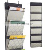 Amazon Hot Sale 6 Pockets Hanging File Holder Large 6 Tier Hanging Storage Box For Magazine Organizer Brochure Holder