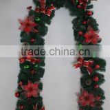 2015 christmas garland with flower and christmas ball