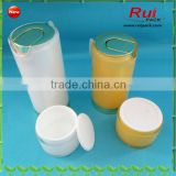 Empty acrylic airless cream jar with acrylic bottle,plastic cream jar,lotion bottle combination