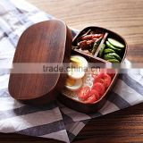 Japanese-style hand made the original wooden tableware lunch box