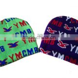 High quality soft colorful YMCMB beanie toque,custom design beanie hats with new pattern