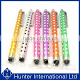 Attractive Printed Polka Dots Rubber Tip Stylus Pen