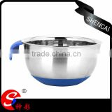 silicone bottom deep mixing salad bowl steel with silicon handle                                                                                                         Supplier's Choice