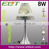 Hot Novelty Gift Table Lamp/Magnetic Floating Metal base And Fabric LED Lighting Desk Lamps