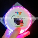 2016 Hot selling Square shaped ABS material led flash lighting drink coaster for business gifts