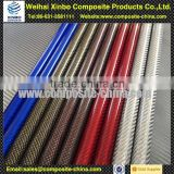 Beautiful 3k weave expoxy and oval carbon fiber tubes with colorful surface finish made in Weihai Xinbo