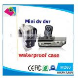 Hot sale mini dv MD80 mini video camera 720*480 sport hidden camera with waterproof case