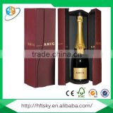 Custom golden and silver hot stamping fashion luxury paper gift wine box                                                                                                         Supplier's Choice